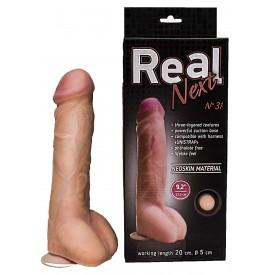 Гигантский фаллоимитатор на присоске REAL Next №31 - 23,5 см.