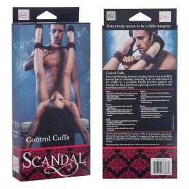 Атласные оковы на ноги Scandal Control Cuffs